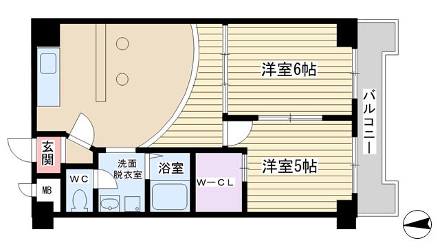 物件番号: 1068101502 パークロッジ  大阪市淀川区木川東4丁目 2LDK マンション 間取り図