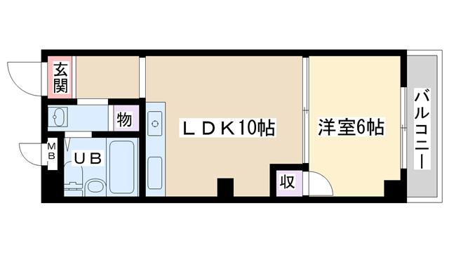 物件番号: 1068102297 S.G.HEIGHTS  大阪市淀川区木川西4丁目 1LDK マンション 間取り図