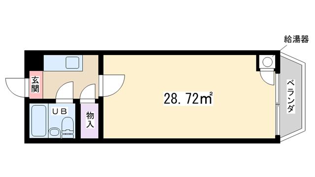物件番号: 1068108685 チサンマンション第7新大阪  大阪市淀川区西中島6丁目 1R マンション 間取り図