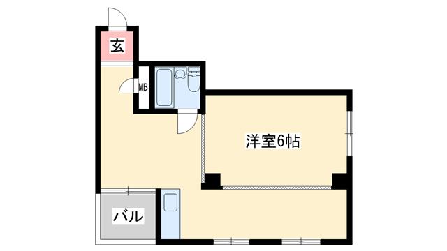 物件番号: 1068113828 大京ビルマンション新大阪  大阪市淀川区西中島5丁目 1DK マンション 間取り図