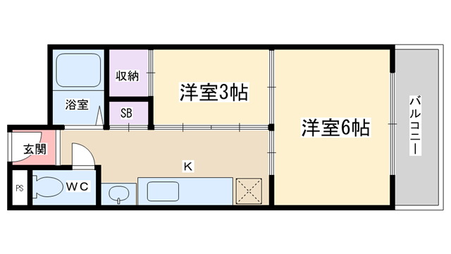 物件番号: 1068116321 新光マンション  大阪市淀川区宮原2丁目 2K マンション 間取り図