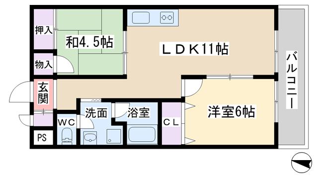 物件番号: 1068120112 東淀川ホームプラザ  大阪市東淀川区西淡路3丁目 2LDK マンション 間取り図