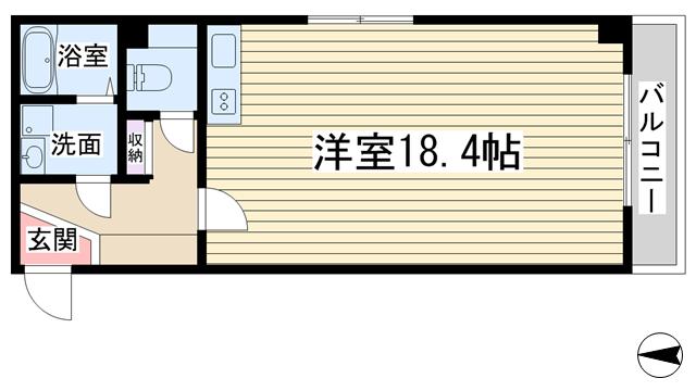 物件番号: 1068122096 ユニーブル新大阪  大阪市淀川区宮原1丁目 1R マンション 間取り図