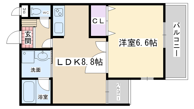 物件番号: 1068129162 ASKコート  大阪市東淀川区西淡路2丁目 1LDK マンション 間取り図