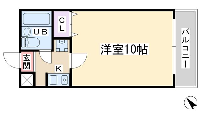 物件番号: 1068130356 ミュゼ西淡路  大阪市東淀川区西淡路5丁目 1K マンション 間取り図