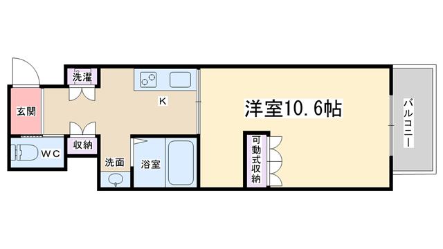 物件番号: 1068132947 SSK・NorthOsaka   大阪市淀川区西中島2丁目 1K マンション 間取り図