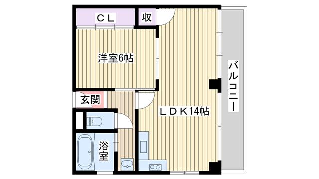 物件番号: 1068133130 メゾンリーフ  大阪市淀川区西中島4丁目 1LDK マンション 間取り図