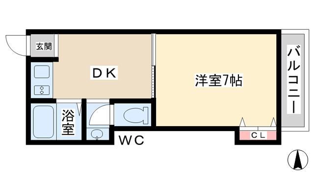 物件番号: 1068133299 めぐみマンション  大阪市淀川区新高2丁目 1DK マンション 間取り図