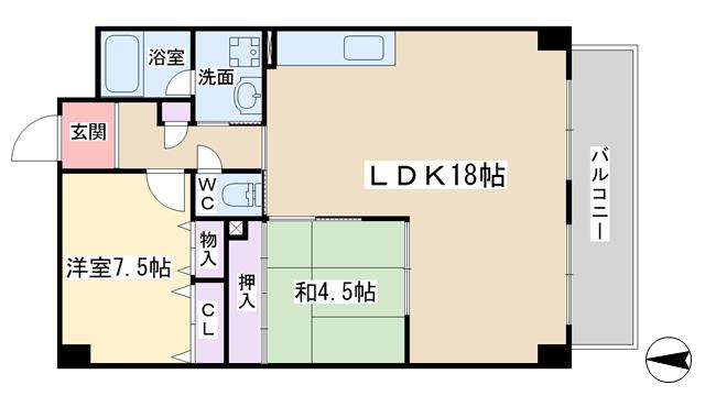 物件番号: 1068134503 ドミールC・S  大阪市淀川区野中北1丁目 3LDK マンション 間取り図