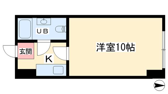 物件番号: 1068134668 新大阪第1ダイヤモンドマンション  大阪市東淀川区東中島1丁目 1K マンション 間取り図