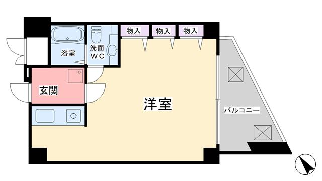 物件番号: 1068134744 マンションエピ  大阪市東淀川区東中島2丁目 1K マンション 間取り図