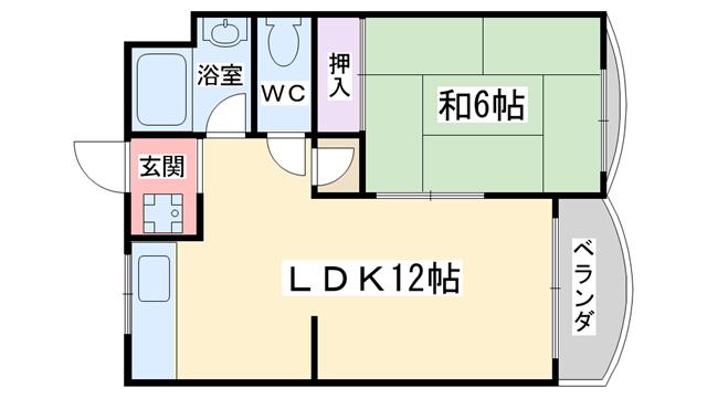 物件番号: 1068135093 エコーマンション  大阪市淀川区新北野3丁目 1LDK マンション 間取り図