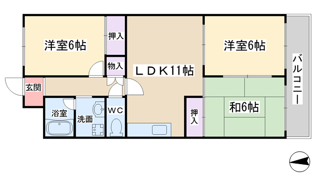 物件番号: 1068135117 グランジュール淀川  大阪市淀川区加島3丁目 3LDK マンション 間取り図