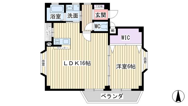 物件番号: 1068135139 ASK-6  大阪市東淀川区淡路1丁目 1LDK ハイツ 間取り図