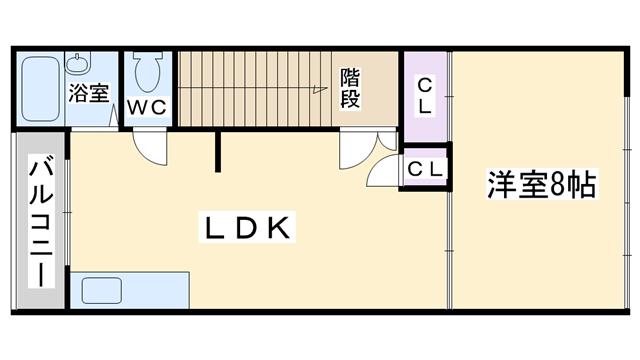 物件番号: 1068135238 ローズハイムⅤ  大阪市東淀川区淡路3丁目 1LDK アパート 間取り図
