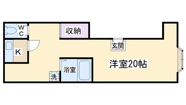 物件番号: 1068135242 松本ビル  大阪市東淀川区淡路3丁目 1R マンション 間取り図