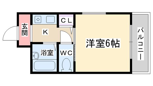 物件番号: 1068135383 Sonix2000  大阪市東淀川区豊新5丁目 1K マンション 間取り図