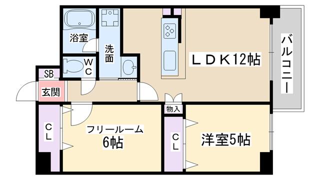 物件番号: 1068135580 メゾントーワ  大阪市淀川区新北野1丁目 1SLDK マンション 間取り図