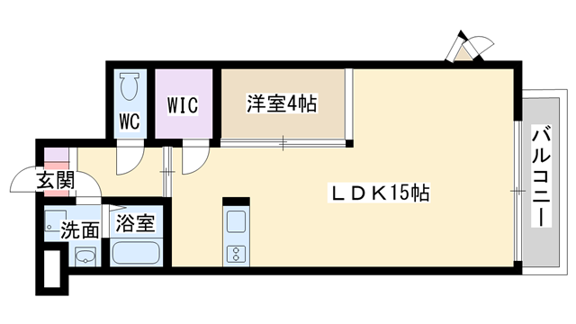 物件番号: 1068135803 ディブレイク  大阪市東淀川区東中島4丁目 1LDK マンション 間取り図