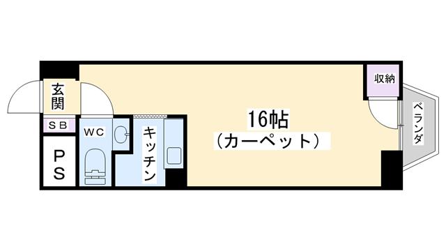 物件番号: 1068135883 チサンマンション第7新大阪  大阪市淀川区西中島6丁目 1R マンション 間取り図