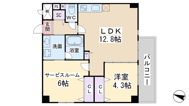 物件番号: 1068136048 ウッドリバー新大阪  大阪市淀川区西宮原1丁目 1SLDK マンション 間取り図