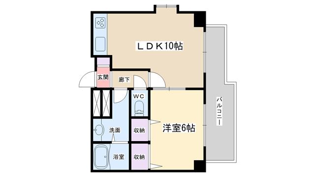 物件番号: 1068136638 ヴェルドミール35  大阪市東淀川区東中島2丁目 1LDK マンション 間取り図