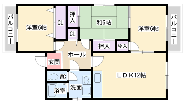 物件番号: 1068136789 松久ハイツ  大阪市淀川区十八条2丁目 3LDK マンション 間取り図