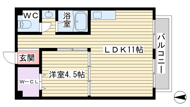 物件番号: 1068136908 イーズマンションⅡ  大阪市東淀川区豊新5丁目 1LDK マンション 間取り図