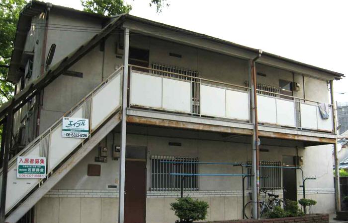 物件番号: 1068135241 ローズハイムⅠ  大阪市東淀川区淡路3丁目 2DK アパート 外観画像